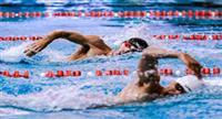 مسابقات شنا به مناسبت دهه مبارک فجر در کیش برگزار شد