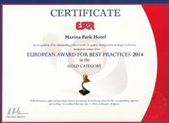 جایزه بهترین عملکرد مدیریت از جامعه تحقیقات کیفیت اروپایی- بلژیک